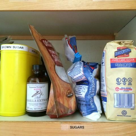 Jumbled sugar pantry from ShockinglyDelicious