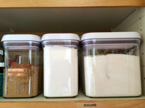 Organized sugar pantry from ShockinglyDelicious