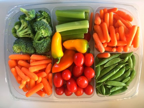 Vegetable tray on ShockinglyDelicious.com