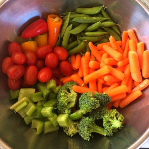 Vegetables in the bowl on ShockinglyDelicious.com
