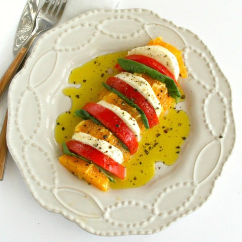 California Caprese Salad recipe on ShockinglyDelicious.com