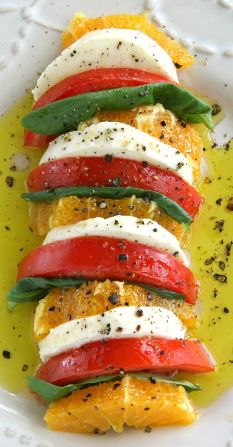 Easy California Caprese Salad recipe on ShockinglyDelicious.com