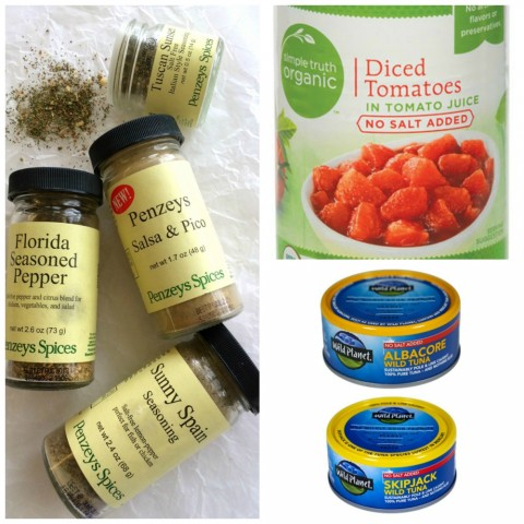 Favorite Low-Sodium Pantry Items: My favorite low-sodium foods I always keep in my pantry, to help me cut salt from our meals and still keep them delicious. These pantry essentials are meal-savers, for sure!