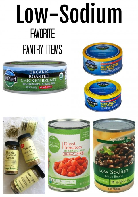 Low-Sodium Favorite Pantry Items on ShockinglyDelicious.com