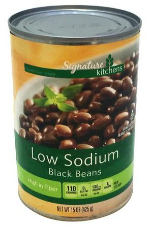 Signature Kitchens Low Sodium Black Beans