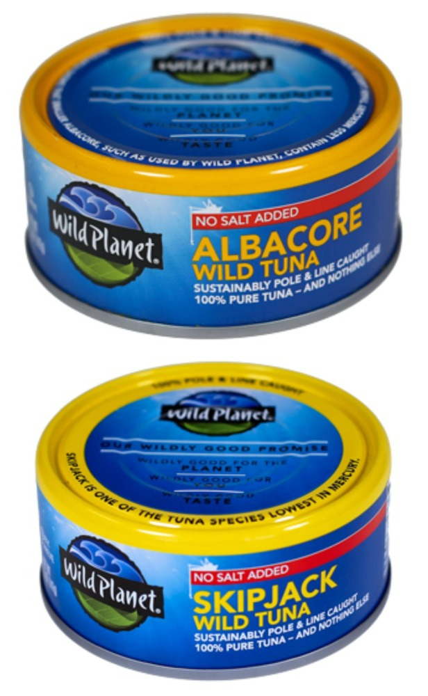 Wild Planet No Salt Added Tuna