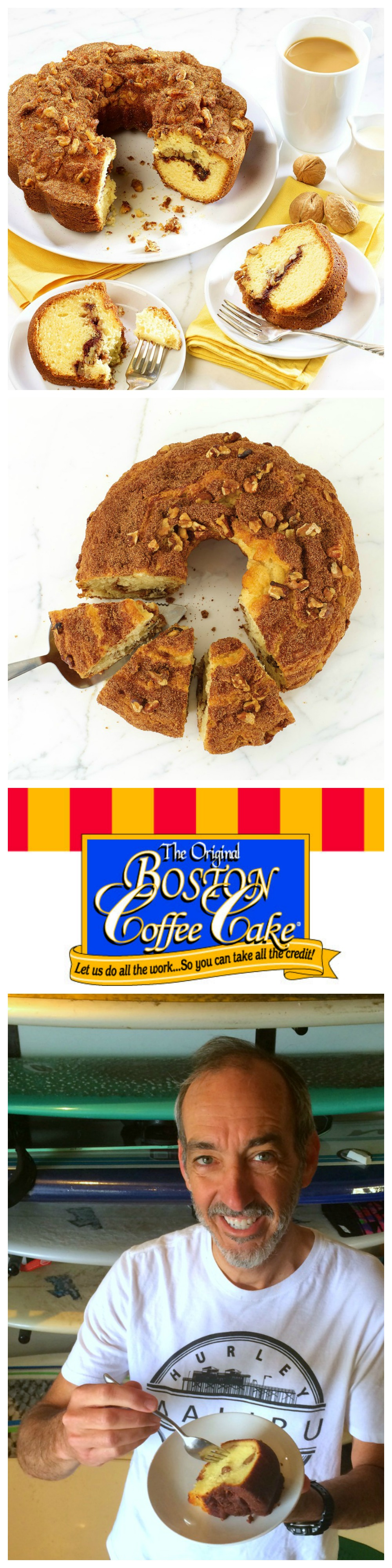 Boston Coffee Cake baked goods make a great thank-you gift