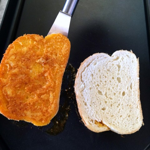 Cheese Toast grills for 1 minute