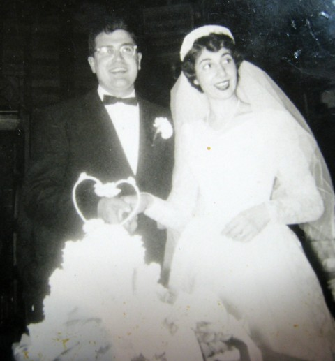 Helen and Bill Reinhold at their wedding