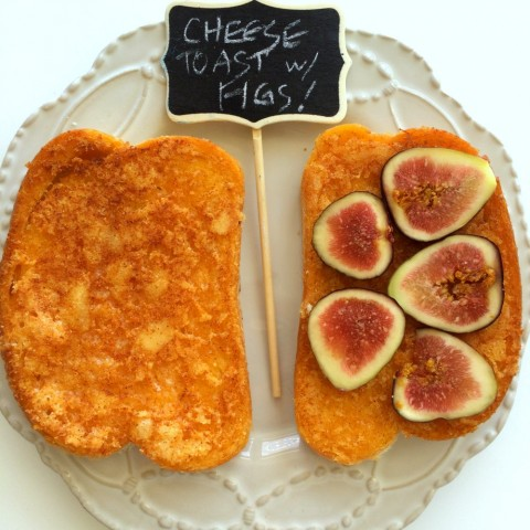 Original Cheese Toast and Cheese Toast with Figs