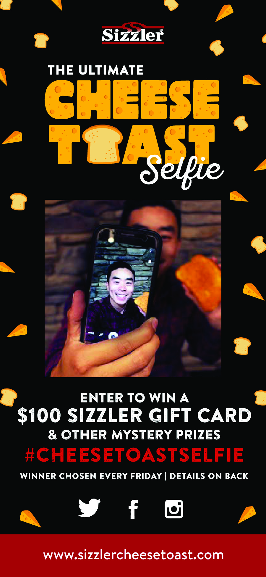 Sizzler Cheese Toast Selfie Contest easy to enter
