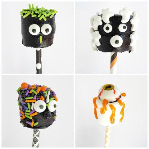 Black Monster Marshmallow heads on ShockinglyDelicious.com