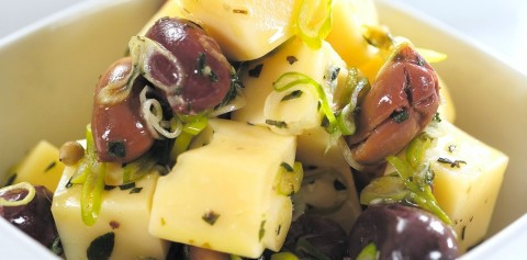 French-Style Marinated Cheese recipe on ShockinglyDelicious.com