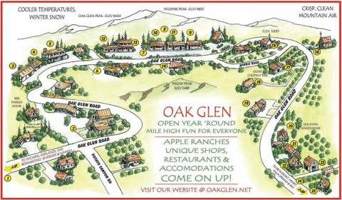 Map of Oak Glen, Calif.