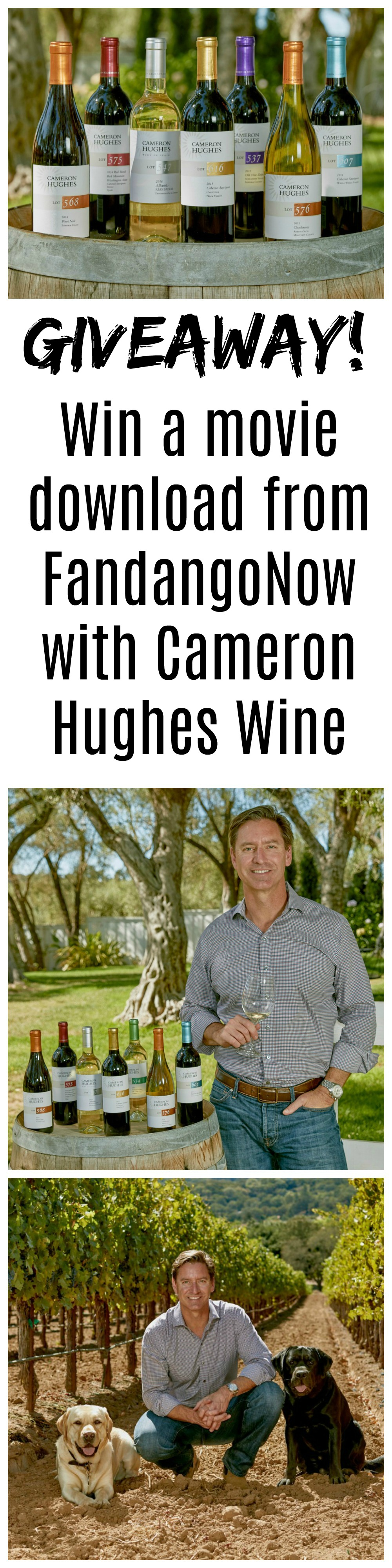 Movie giveaway with FandangoNow and Cameron Hughes Wine
