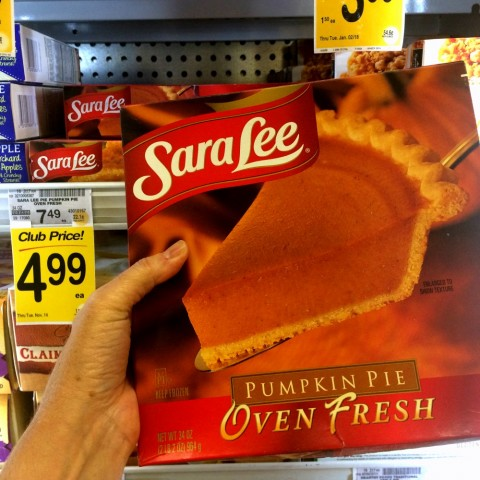 Sara Lee Pumpkin Pie at Vons