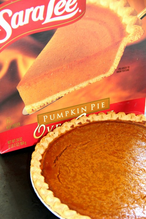 Sara Lee Pumpkin Pie baked and ready