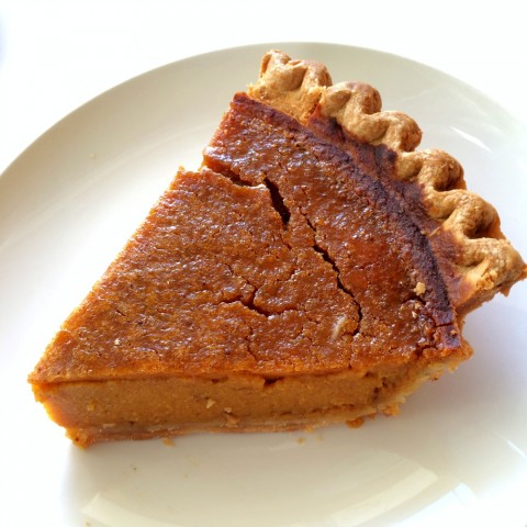 Sara Lee Pumpkin Pie naked