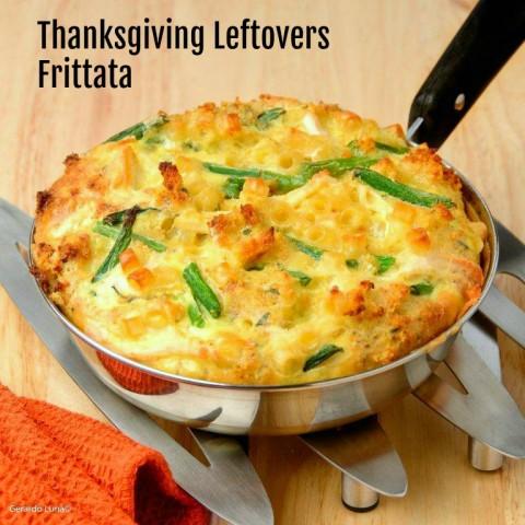 Thanksgiving Leftovers Frittata for an easy dinner