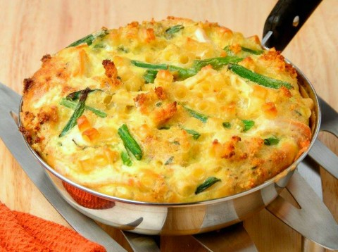Thanksgiving Leftovers Frittata: Turkey, stuffing and other Thanksgiving leftovers make a delicious and quick frittata for lunch or dinner.