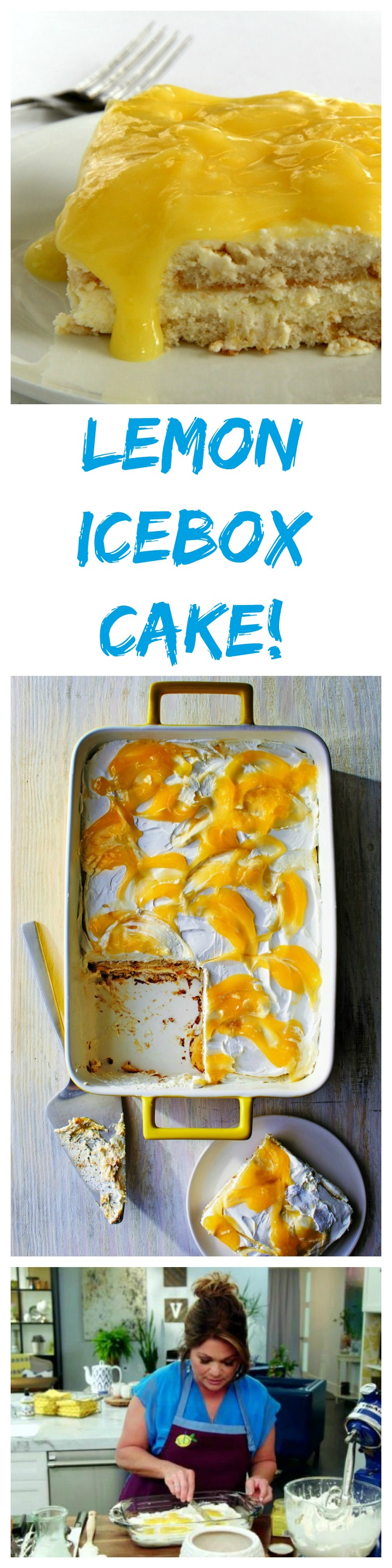 Lemon Icebox Cake by Valerie Bertinelli on ShockinglyDelicious.com