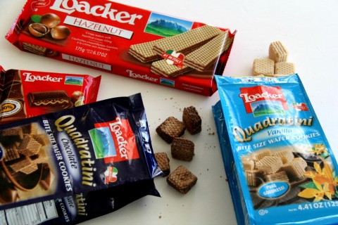 Loacker wafers used for Cookies and Cream Parfaits on ShockinglyDelicious.com