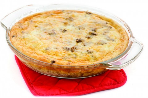 Easy Taco Pie on ShockinglyDelicious.com