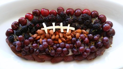 A Fruit Football will be the healthiest, most delicious component of the football fare at the game-day party. Make yours with your favorite fruits.