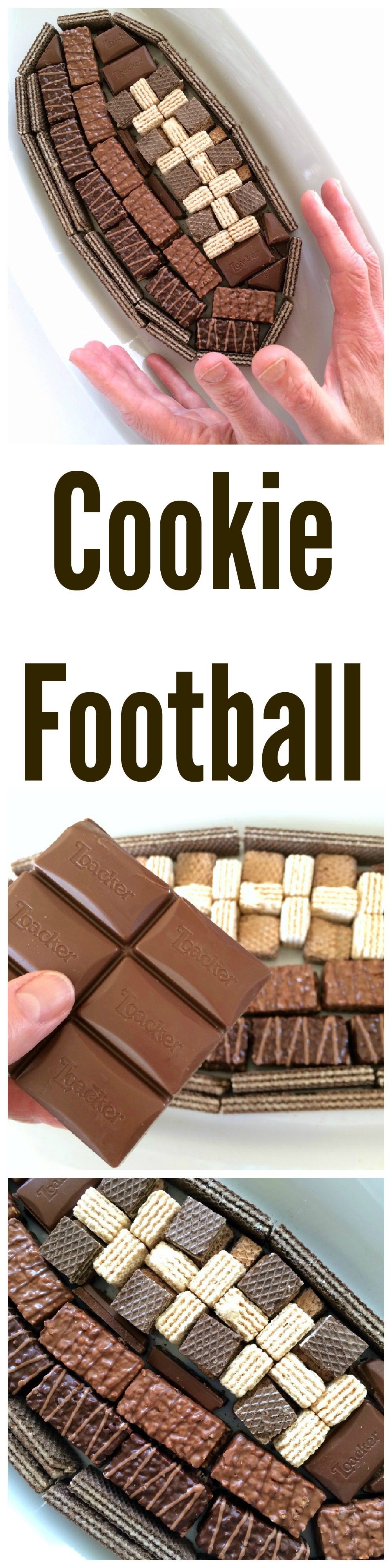 Game Day Cookie Football on ShockinglyDelicious.com