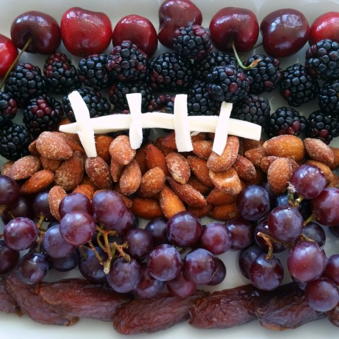 Ingredients for Fruit Football on ShockinglyDelicious.com