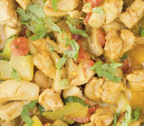 Chicken Coconut Curry closeup photo