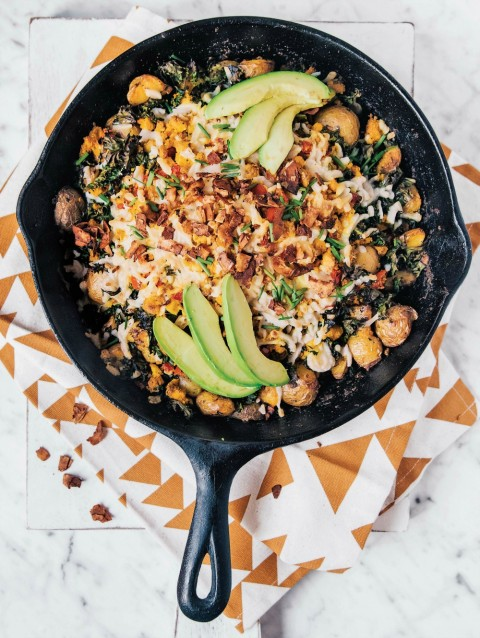 big brekky skillet from Hot For Food Vegan Comfort Classics