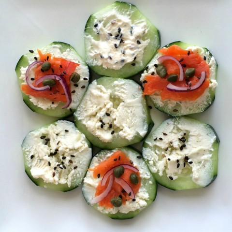 Cucumber Smoked Salmon Appetizer Recipe
