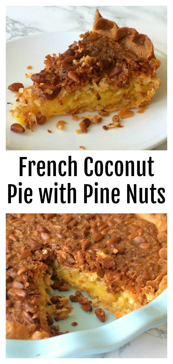 French Coconut Pie with Pie Nuts on ShockinglyDelicious.com