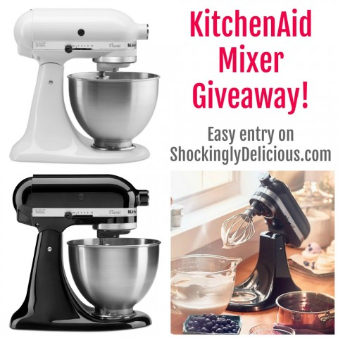 KitchenAid Mixer Giveaway on ShockinglyDelicious.com