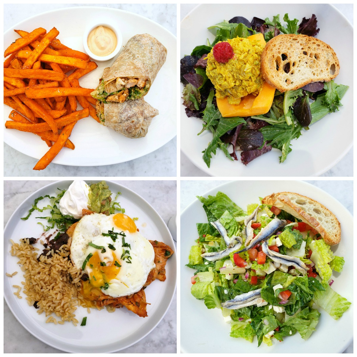 The Sparrow Cafe in Malibu, Calif. is a great, relaxing place for lunch, on the patio at the Malibu Racquet Club (open to the public). Healthy menu options, delicious food and a calm atmosphere make it practically perfect.
