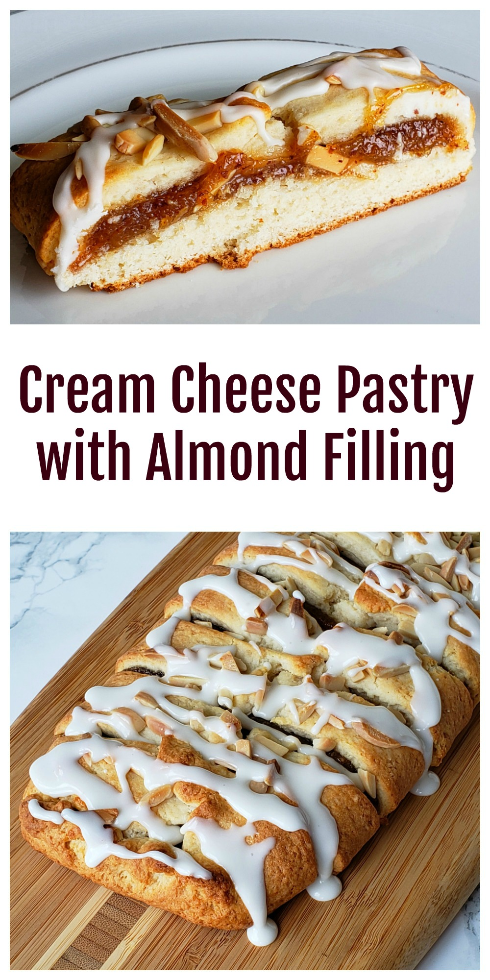 Cream Cheese Pastry with Almond Filling on ShockinglyDelicious.com