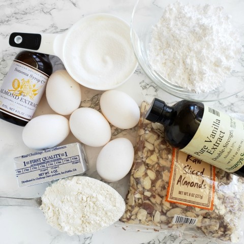 Assemble ingredients for the Swedish Visiting Cake Bars