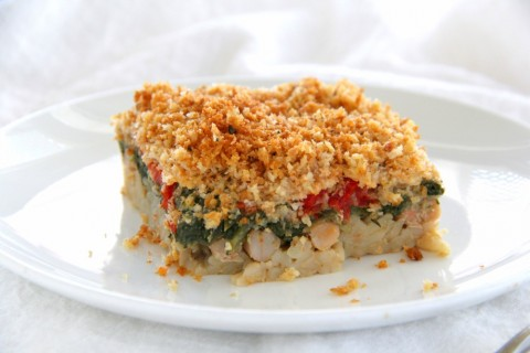 Swiss Chard and Orzo Gratin on ShockinglyDelicious.com