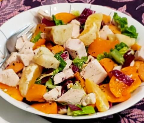 Leftovers from Radicchio and Roasted Sweet Potato Salad