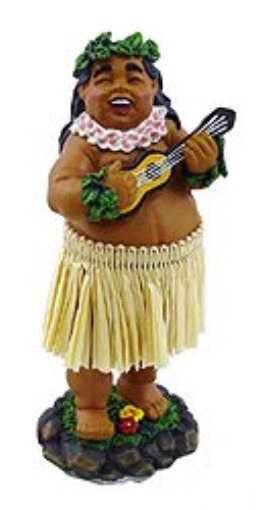 Ukulele Hula Dashboard Doll