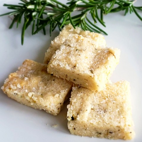 Easy Rosemary Shortbread Recipe on ShockinglyDelicious.com