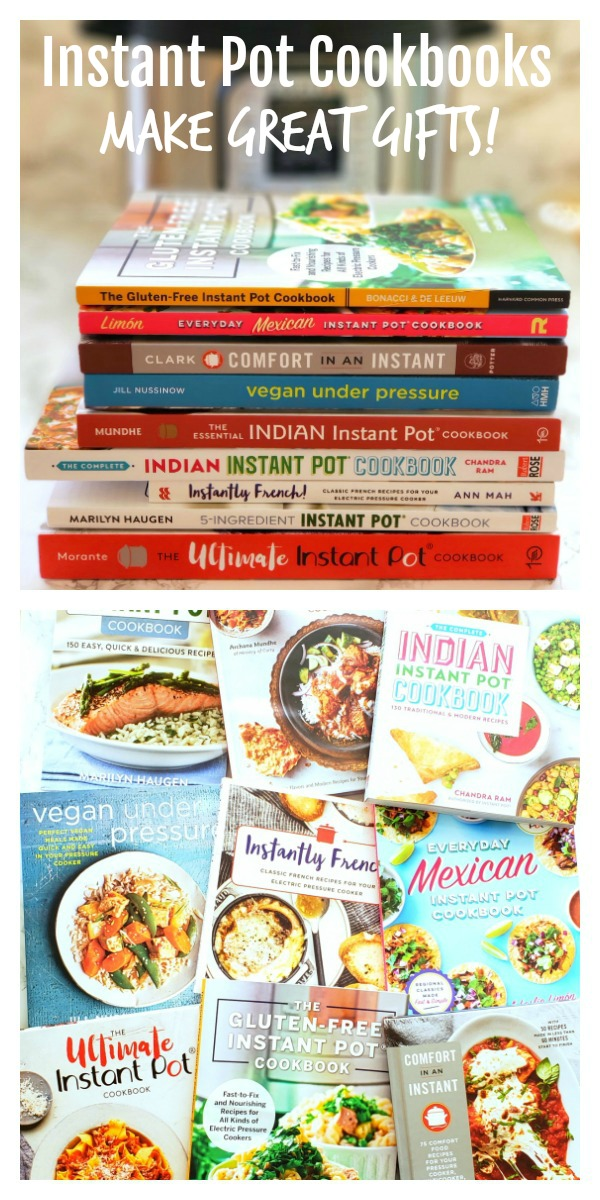 Instant Pot Cookbooks for gift giving on ShockinglyDelicious.com