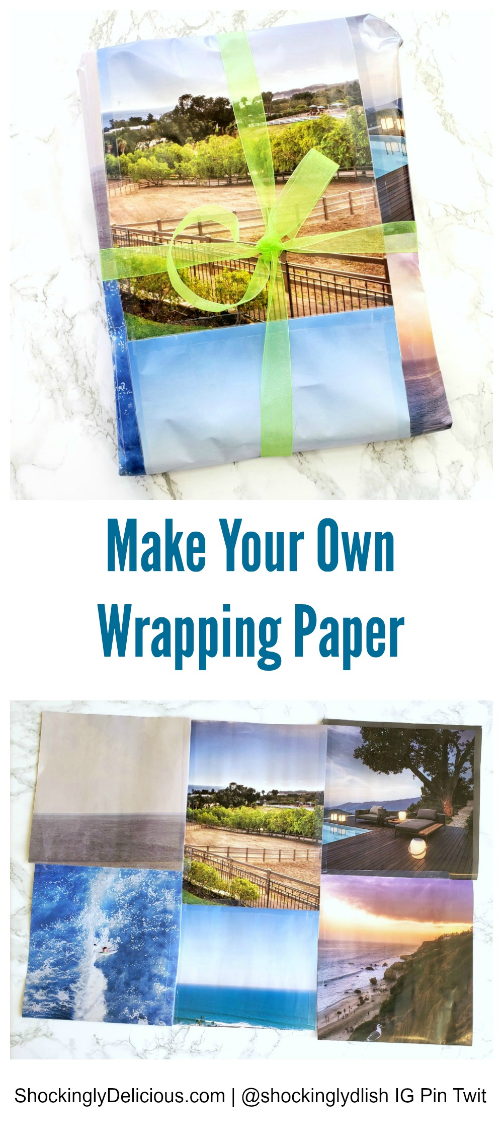 Make Your Own Wrapping Paper on ShockinglyDelicious.com