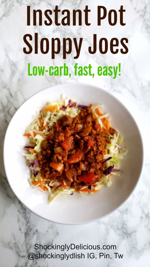 Sloppy Joes in the Instant Pot on ShockinglyDelicious.com