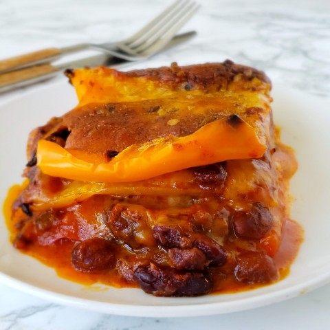 3-Ingredient Chili Cheese Peppers Casserole on ShockinglyDelicious.com