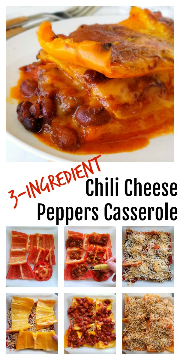 Easy 3-Ingredient Chili Cheese Peppers Casserole Recipe on ShockinglyDelicious.com