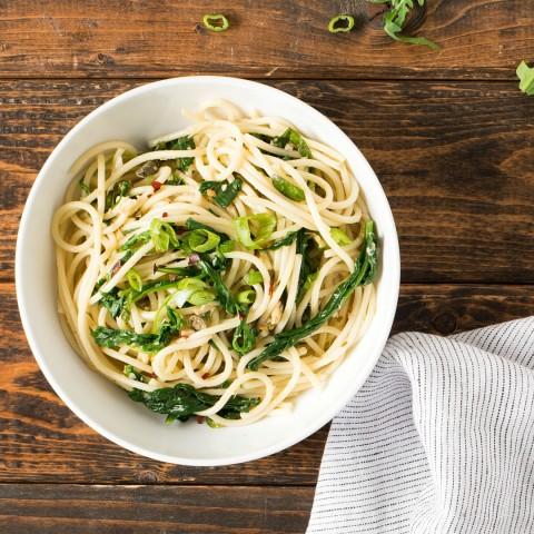 Green Pasta Puttanesca reinvents classic