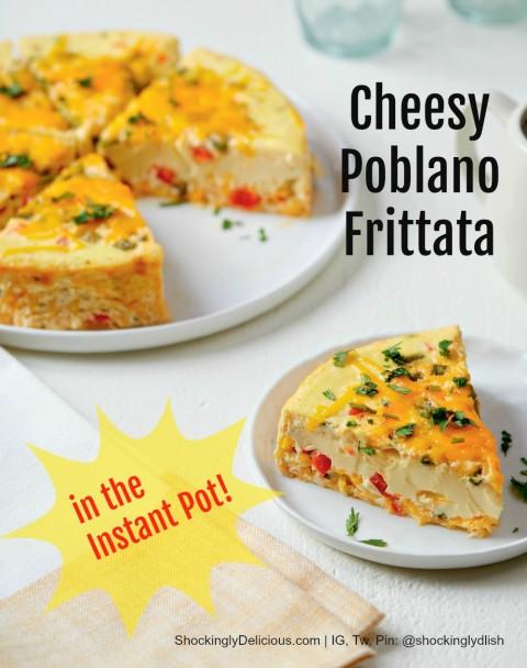 Cheesy Potlano Frittata on a white plate