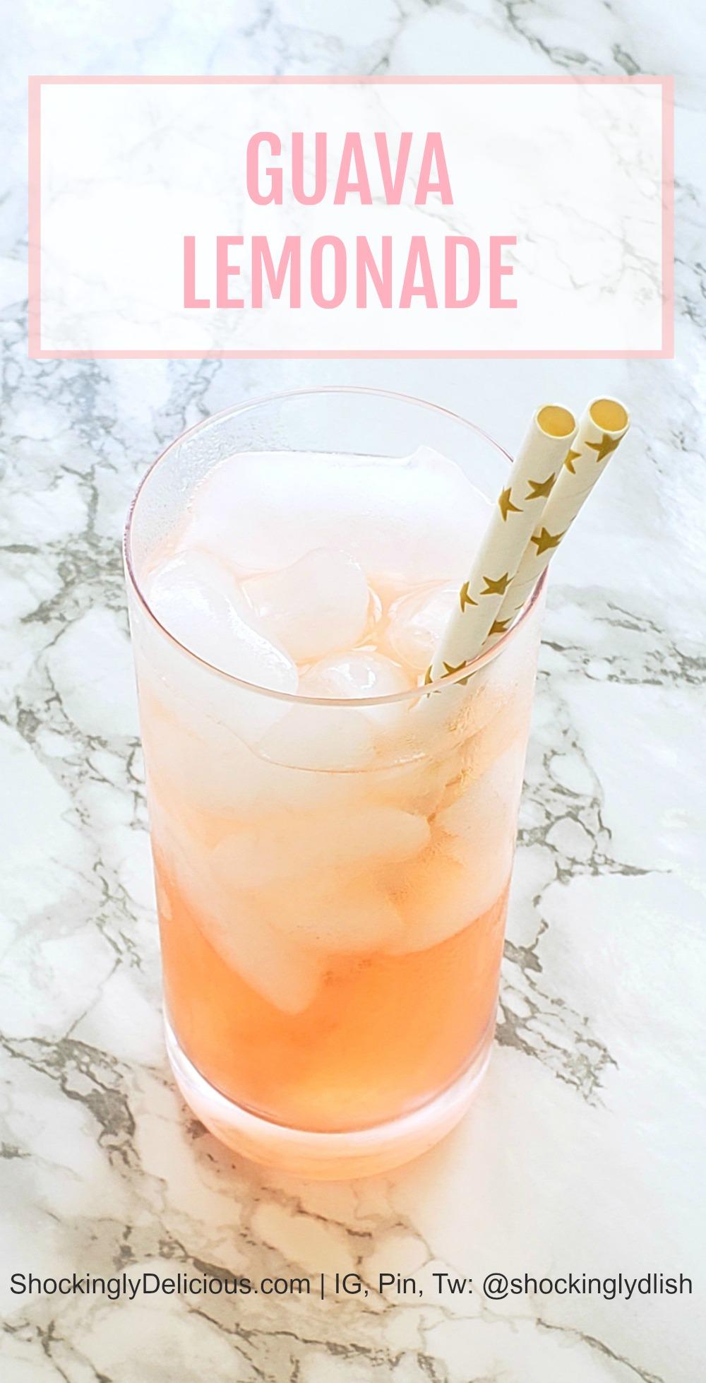 Easy Guava Lemonade Drink Recipe on ShockinglyDelicious.com
